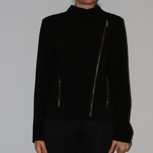 Black Calvin Klein Jacket with Gold Zipper